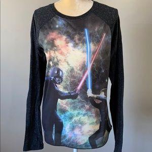 Star Wars XL Luke & Darth Vader Long Sleeved Shirt
